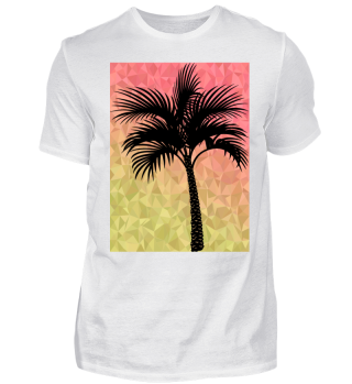 Palm Tree Summer Shirt Tee Beach Sunset