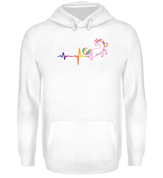 gift heartbeat unicorn colour