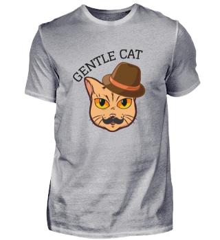 Gentle Cat, Katze Hut Schnurrbart