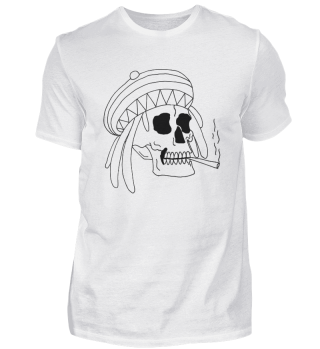 Rastamann Totenkopf T-Shirt