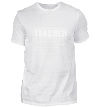 Funny Description Tee Shirt Teacher Edit