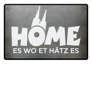Home es wo et Hätz es - Kölsche Fußmatte