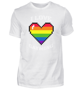 I Love Gayming Gamer LBGT LGBT
