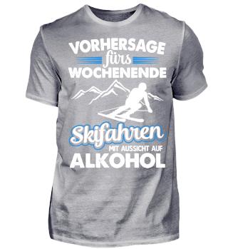 SKIFAHREN ALKOHOL T-SHIRT