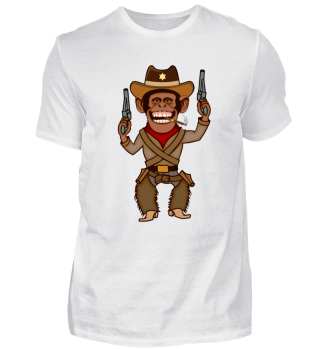 Cowboy Monkey / Affe Shirt