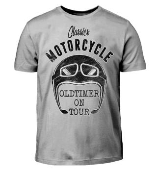 Motorcycle OLDTIMER ON TOUR black