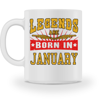 Legends are born in January birthday gift shirt