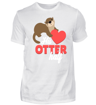 Otter Heart Love Valentines Day Gift