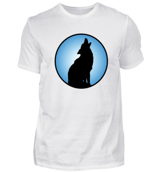 Howling Wolf Silhouette Wilderness
