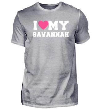 I love my Savannah Cat