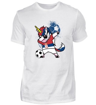 Serbia Unicorn Soccer Football Dab