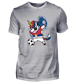 Serbia Unicorn Soccer Football Dab