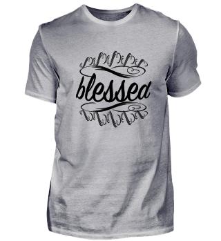 Blessed Gesegnet Logo Design Schriftzug