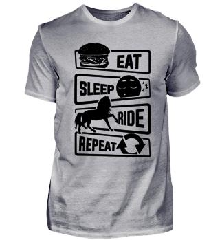 Eat Sleep Ride Repeat - Horse Horseback