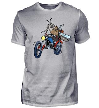 Moskito Mücke auf Motorrad easy Rider