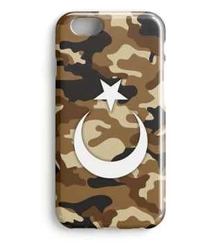 Kamuflaj Türk Bayragi Iphone Case Model4