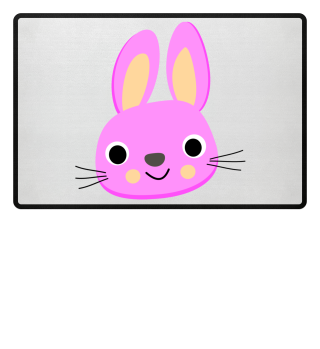 Fußmatte Pinker Hase
