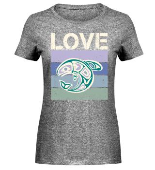 Stripes - LOVE - Ethno Whale - cream