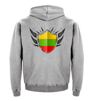 Litauen-Lithuania Wappen Flagge 013