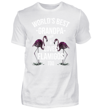 World's Best Grandpa & Loves Flamingos