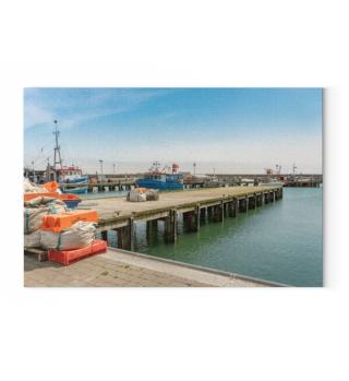 Sassnitz Fischerhafen Leinwand