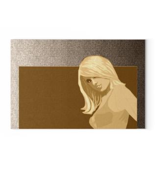sexy blonde Girl Malerei Art sepia