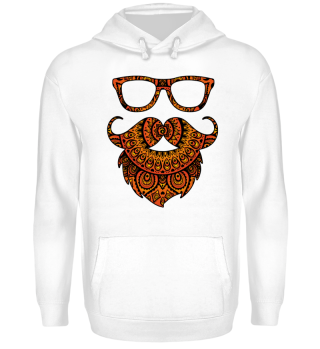 ♥ Folklore Mandala Hipster Glasses Beard