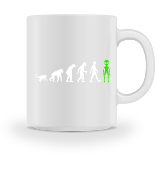 Evolution Of Humans - Green Alien II