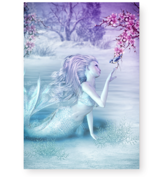Mermaid on ice