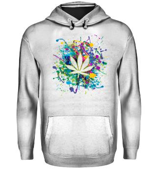 ★ Color Splashes - Marijuana Leaf I