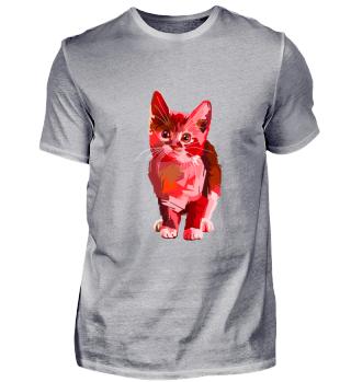 Red Pop Art Cat