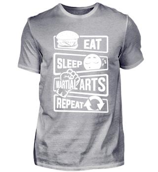 Eat Sleep Martial Arts Repeat - Fighting