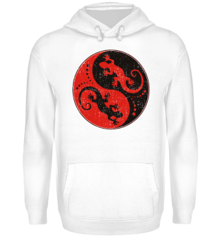 ♥ Yin Yang Geckos - Black Red