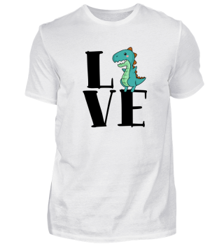 Funny Dinosaur Love Men Women Tee