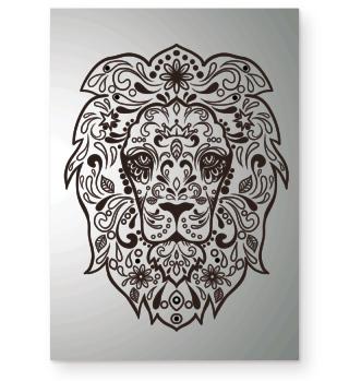 ★ Löwe Ornamente Tattoo - schwarz Poster