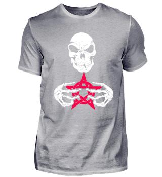 skull reaper red pentagram halloween 666
