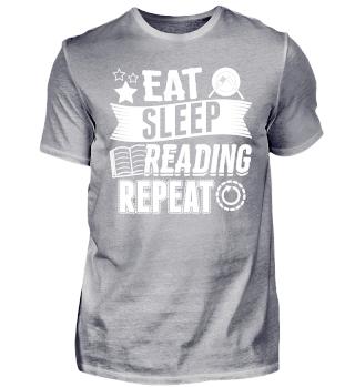 Funny Reading Book Shirt Eat Sleep
