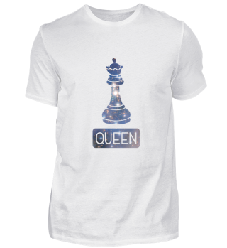 Queen Chess Piece Starry Night Galaxy