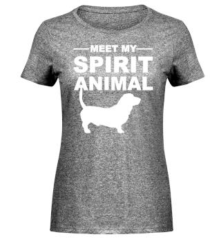 Meet Spirit Animal - basset hound white