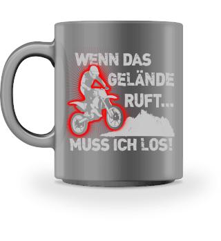 Motocross Gelände ruft - Tasse