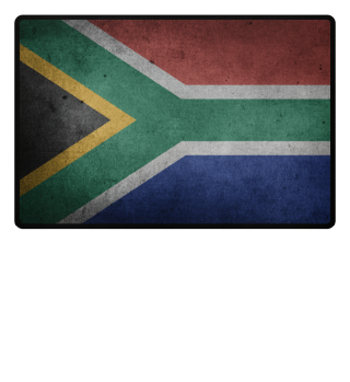 ♥ World Flag grungy - South Africa
