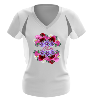 CUTE LOVELY FUNNY MOM FLOWERS GIFT TEE