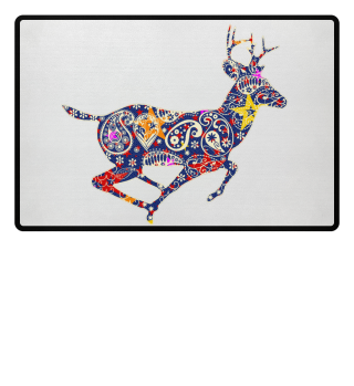 Running Deer - Paisley Ornaments Ia