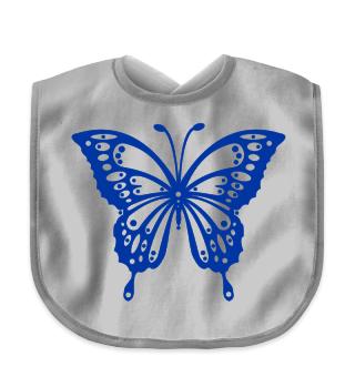 Schmetterling malen I - blau Latz