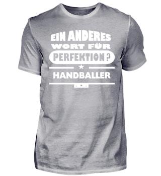 Handballer wort für Perfektion