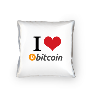 I love BITCOIN - Kryptowährung