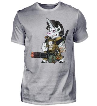 Bundeswehr Soldat Einhorn Marine Infanterie Airsoft Polizei Shirt
