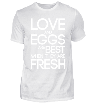 FUNNY KITCHEN SHIRT   LOVE AND EGGS