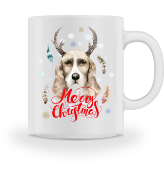 ☛ Merry Christmas · Boho Dog · Hund #2AT