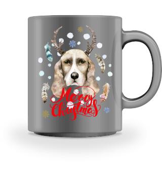 ☛ Merry Christmas · Boho Dog · Hund #2AT